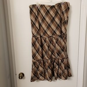 Avenue long brown skirt size 18/20